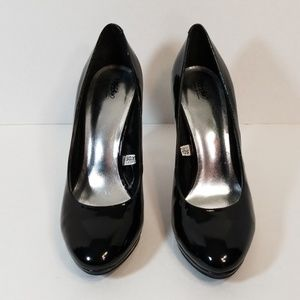 Mossimo Black Faux Patent Leather Pump Heels. 7.5.